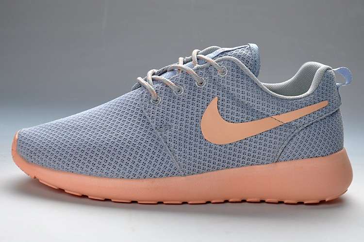 2013 Nike Roshe Run Womens Running Shoes Gray Light Pink