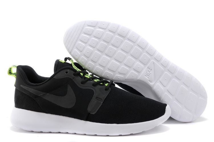 2014 New Release Nike Roshe Run Hyperfuse 3M Mens Shoes Black