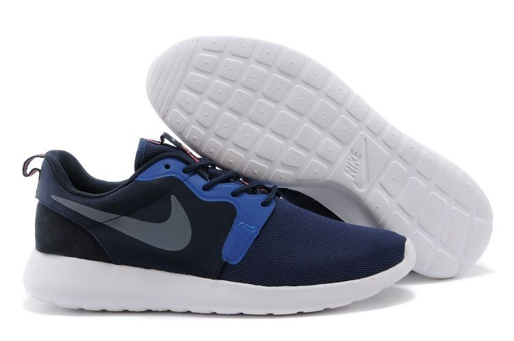 2014 New Release Nike Roshe Run Hyperfuse 3M Mens Shoes Dark Blue