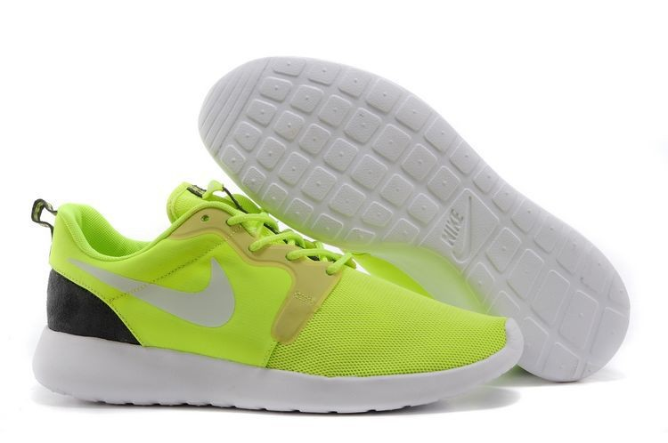 2014 New Release Nike Roshe Run Hyperfuse 3M Mens Shoes Green Black