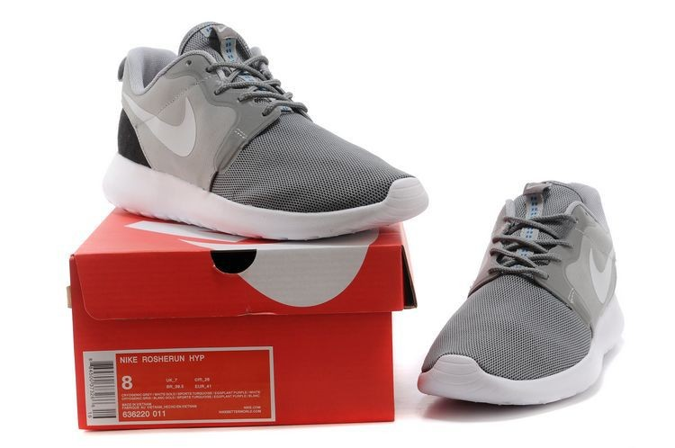 2014 New Release Nike Roshe Run Hyperfuse 3M Mens Shoes Grey