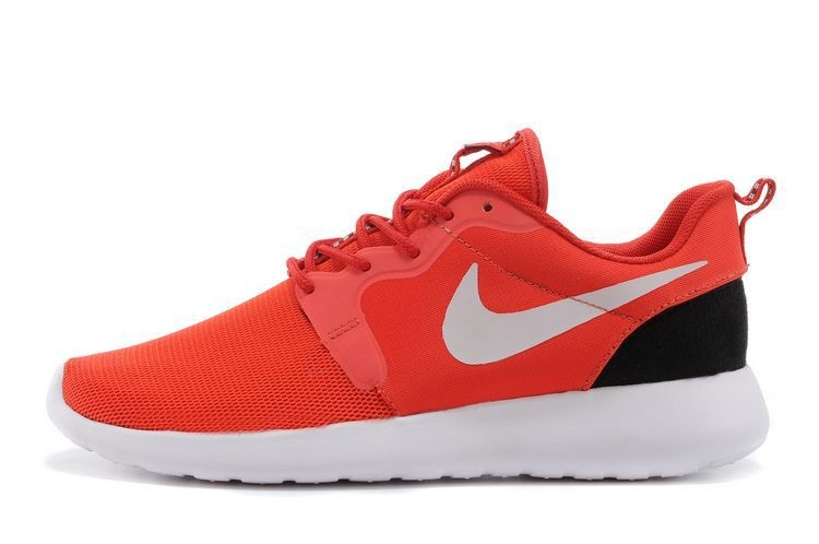 2014 New Release Nike Roshe Run Hyperfuse 3M Mens Shoes Red Black