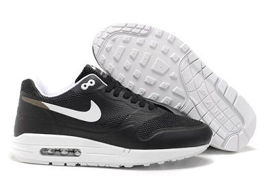 Mens Nike Air Max 1 Hyperfuse Premium Shoes Black White