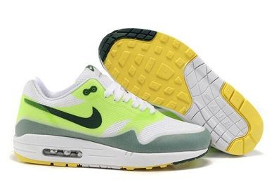 Mens Nike Air Max 1 Hyperfuse Premium Shoes Green White Black