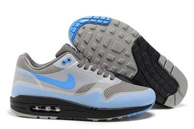 Mens Nike Air Max 1 Hyperfuse Premium Shoes Medium Grey Photo Blue Black