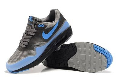 Mens Nike Air Max 1 Hyperfuse Premium Shoes Medium Grey University Blue Black