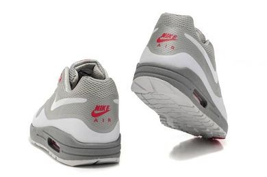 Mens Nike Air Max 1 Hyperfuse Premium Shoes Metallic Silver White Grey Pink