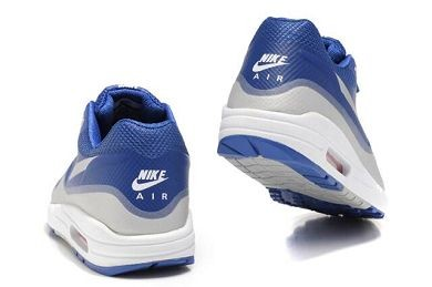 Mens Nike Air Max 1 Hyperfuse Premium Shoes Royal Metallic Silver White