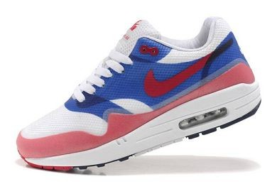 Mens Nike Air Max 1 Hyperfuse Premium Shoes Royal White Red