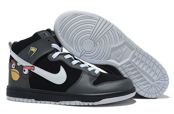 "Mens Nike Dunk SB High Shoes ""Angry Birds"" Black"