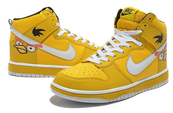 "Mens Nike Dunk SB High Shoes ""Angry Birds"" Yellow"