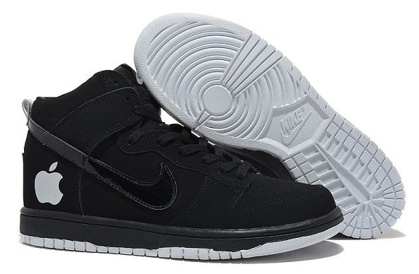 "Mens Nike Dunk SB High Shoes ""Apple"" Black"