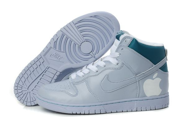 "Mens Nike Dunk SB High Shoes ""Apple"" Grey Blue"