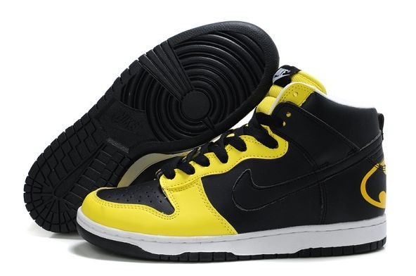 "Mens Nike Dunk SB High Shoes ""Batman"" Black Yellow"