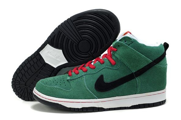 Mens Nike Dunk SB High Shoes Heineken Green Black