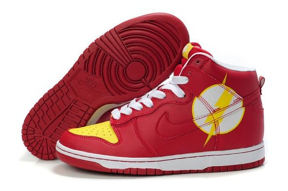 Mens Nike Dunk SB High Shoes Lightning Red Yellow