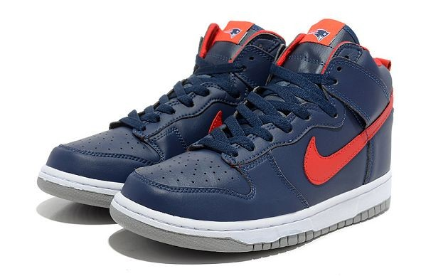 "Mens Nike Dunk SB High Shoes ""New England Patriots"""