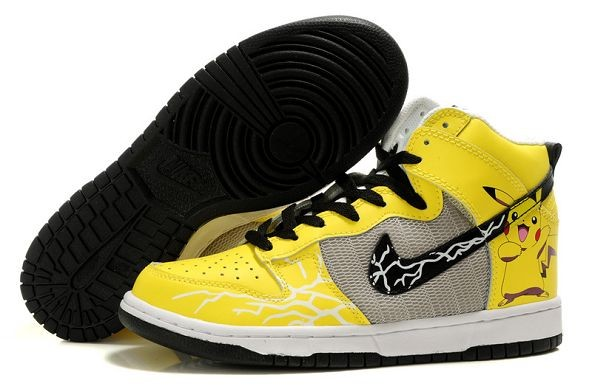 Mens Nike Dunk SB High Shoes Pikachu Yellow