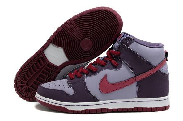 "Mens Nike Dunk SB High Shoes ""Plum"" Purple Red"