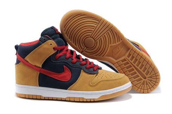 Mens Nike Dunk SB High Shoes Premium Dark Obsidian Varsity Red