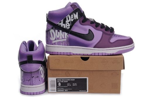 Mens Nike Dunk SB High Shoes Purple Black