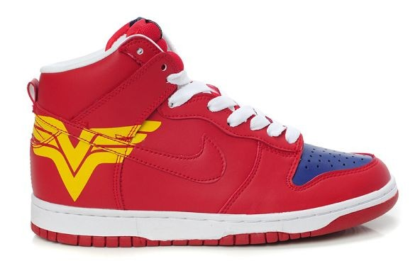 Mens Nike Dunk SB High Shoes Red Blue Yellow