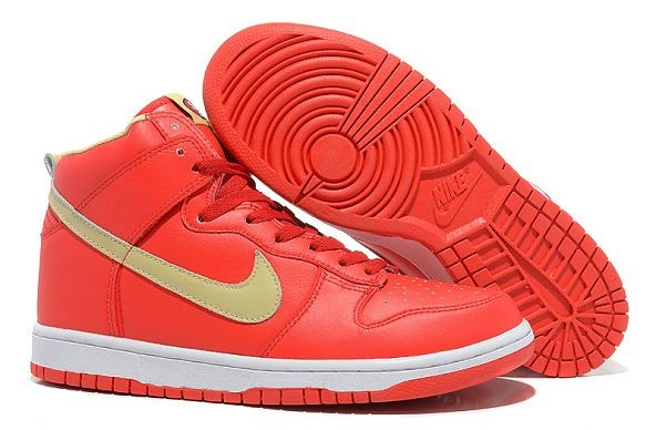 "Mens Nike Dunk SB High Shoes ""San Francisco 49ers"" Red"