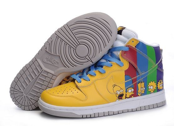 "Mens Nike Dunk SB High Shoes ""Simpsons"""