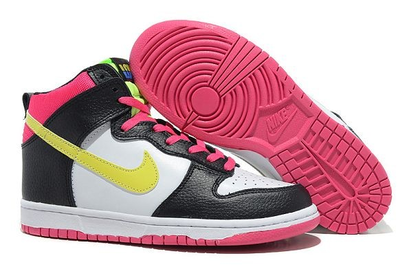 Mens Nike Dunk SB High Shoes White Black Pink