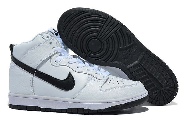 Mens Nike Dunk SB High Shoes White Black