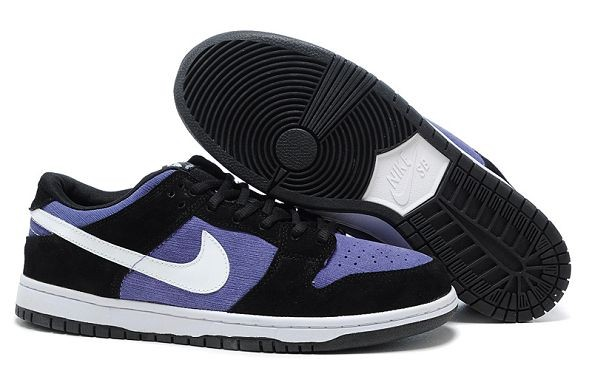 Mens Nike Dunk SB Low Shoes Black Purple White