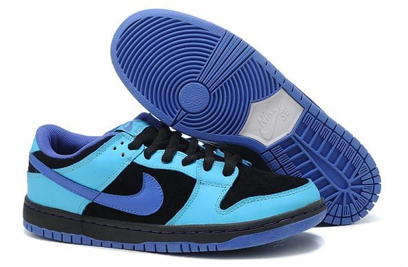 Mens Nike Dunk SB Low Shoes Black Royal Blue