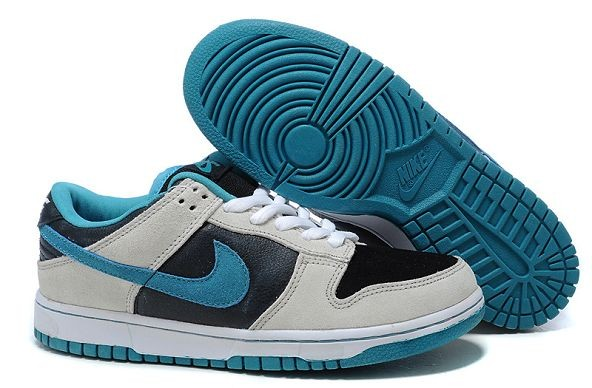 Mens Nike Dunk SB Low Shoes Black White Blue