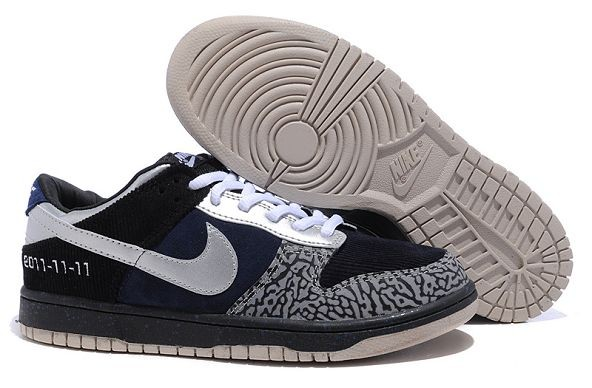 Mens Nike Dunk SB Low Shoes Blue Silver Cement