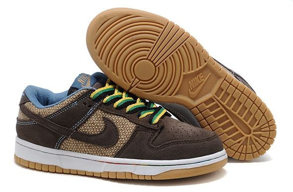 Mens Nike Dunk SB Low Shoes Coffee Brown