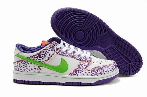 Mens Nike Dunk SB Low Shoes Day Of The Dead White Purple Green