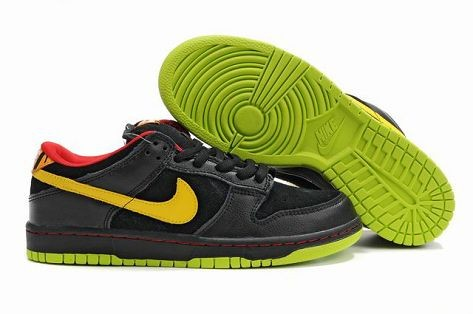 Mens Nike Dunk SB Low Shoes Green Black Yellow