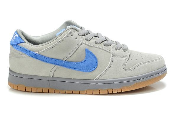 Mens Nike Dunk SB Low Shoes Grey Blue