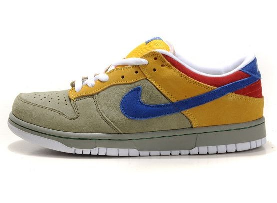 Mens Nike Dunk SB Low Shoes Grey Yellow Red Blue