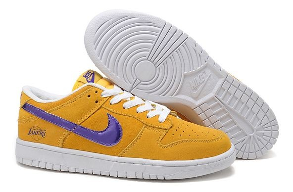 "Mens Nike Dunk SB Low Shoes ""Los Angeles Lakers"" Yellow"