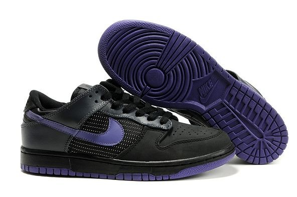 Mens Nike Dunk SB Low Shoes Premium Black Varsity Purple