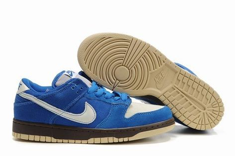 Mens Nike Dunk SB Low Shoes Pro Melbourne Gold Rail Royal Blue