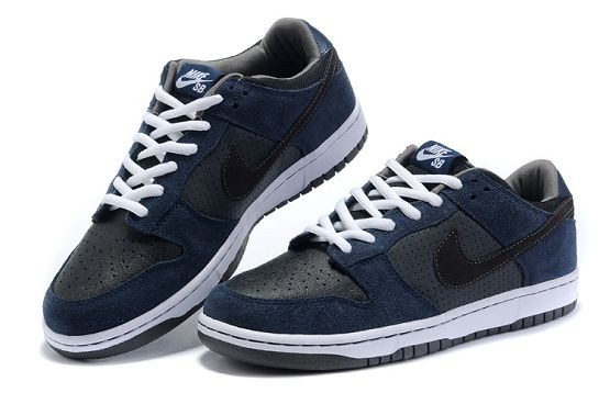 Mens Nike Dunk SB Low Shoes Pro Midnight Navy Black