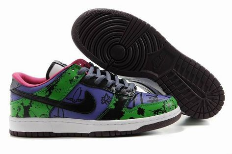 Mens Nike Dunk SB Low Shoes Pro Unkle Edition Blue Green Pink White Black