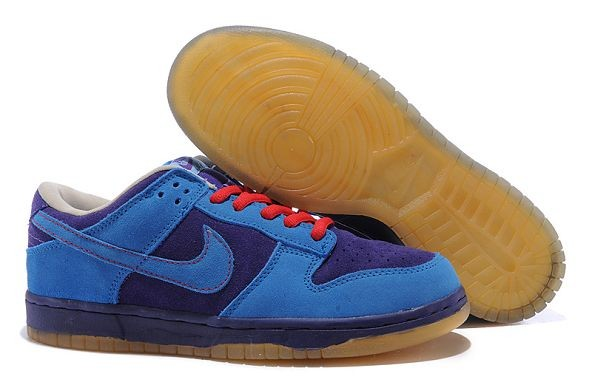 Mens Nike Dunk SB Low Shoes Purple Blue Red