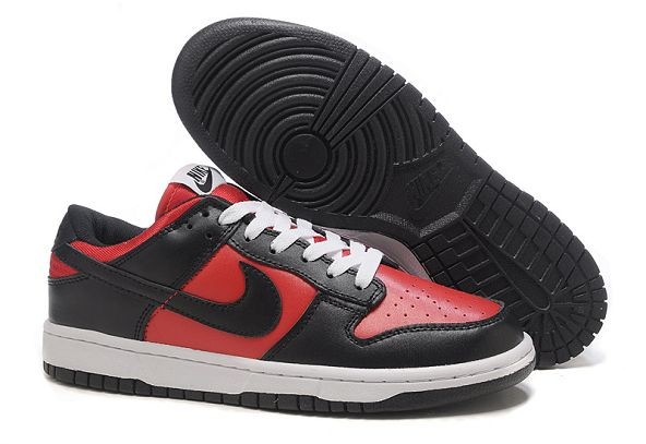 Mens Nike Dunk SB Low Shoes Red Black White