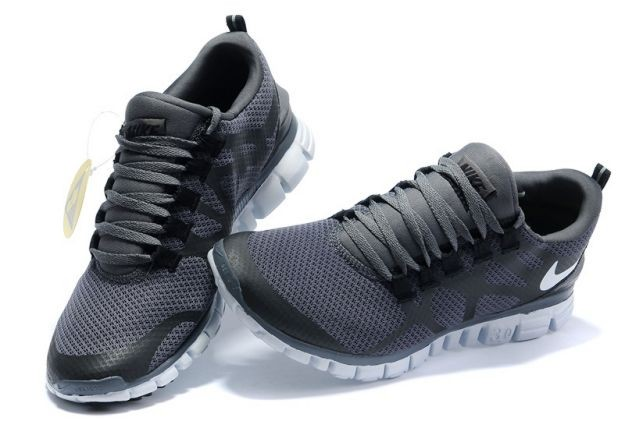 Mens Nike Free 3.0 V3 Charcoal Grey/White Running Shoes