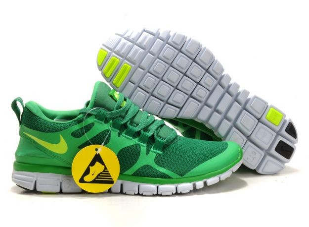 Mens Nike Free 3.0 V3 Lucky Green/Volt Running Shoes