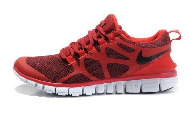 Mens Nike Free 3.0 V3 Wine/Gym Red Running Shoes
