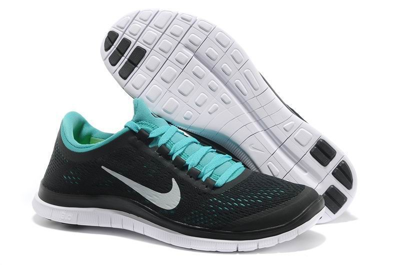 Mens Nike Free 3.0 V5 Black Green Running Shoes